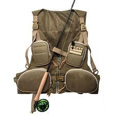 Hot Men's Fly Fishing Waistcoat Jacket Mesh Vest Multi Pocket Adjustable Size