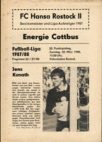 DDR-Liga 87/88 FC Hansa Rostock II - Energie Cottbus, 20.03.1988, Jens Kunath