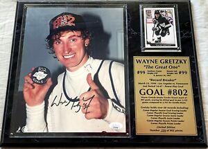 Wayne Gretzky autographed signed auto Goal 802 LA Kings 8x10 photo in plaque JSA