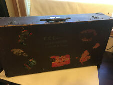 World War 1 Suitcase, USS Scorpion @ Constantinople with Decals, Travel Stickers