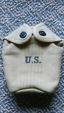 M1910 Canteen Cover New Condition 1942 Kirkman Mfg  WWII Repro. Khaki