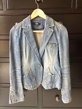 EUC 2ME Vintage Women's Blue Jean Jacket Sz XS, S Korean Boho Style BCBG RL