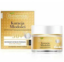 Bielenda Collagen Snail 24k Gold Face Cream for Mature Skin Firm Day Night 50+