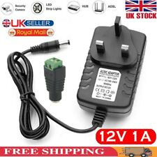 12V 1A AC/DC Adapter Charger Power Supply For LED Strip CCTV Camera UK Plug
