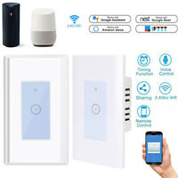 US Smart Touch Light Switch WiFi RF APP Remote Control Socket for Alexa Google