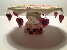 Snowman Christmas Holiday Cake Platter