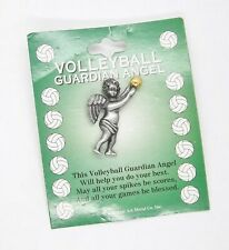 Volleyball Guardian Angel Pin by Cathedral Art ... Made in U.S.A.     #681