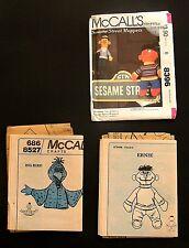 McCalls 8396 8527 Crafts Sesame Street Sewing Patterns 1983 Bert Ernie Big Bird
