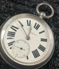 VINTAGE 1891 M. HOFFENBERG FUSEE 18s CHESTER SILVER CASE POCKET WATCH ~ IT DOES