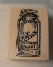 Mason jar rubber stamp WM P39