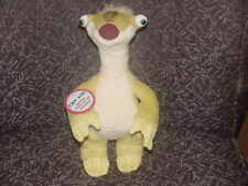 """12"""" Poseable Sid Plush Toy W/Creaking Sounds & Tags From Ice Age 2012 Adorable"""