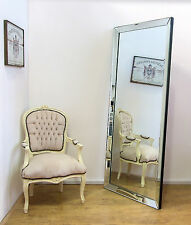 "LUNA X Large Modern Frameless Wall Leaner Full Length Floor Mirror 70"" x 30"""