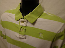 Abercrombie & Finch Short sleeve M Muscle Polo Rugby Green Stripe 100% Cotton