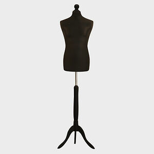 Male Tailors Dummy Tailor Bust Black Fashion Students Mannequin Window Display