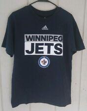 Winnipeg Jets Hockey Adidas Shirt Men's Medium Blue NHL