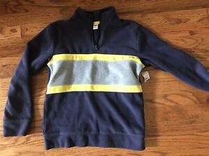 Old Navy Blue Fleece Pullover Jacket Boy's 10-12