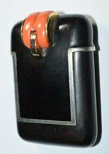Art Deco Purse Pocket Watch Juvenia Gold Silver Coral France 1920s