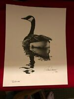 """Rare Richard Darcy WaterFowl print signed and dated, """"Solitude"""""""