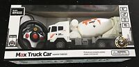 Max Mixing Monster Truck Cement Mixer White Ages 6 New Toy RC Remote Control Car