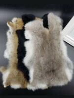 Real Rabbit Fur Rug Pelt Skin Throw Blanket Carpet DIY Dress Bags Shoes Scarf