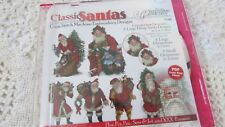 The Vermillion Stichery CLASSIC SANTA'S in Cross Stitch Multiple sizes