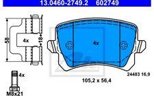 4x ATE Pastillas de Freno Traseras Para SEAT ALHAMBRA 13.0460-2749.2
