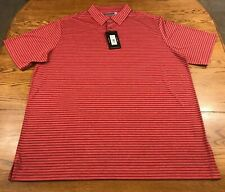 Roundtree & Yorke Men's Performance Polo Shirt 2XLT 2X Tall Red / Navy NWT