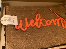 Original Banksy Welcome Mat Gross Domestic Product Un Signed With Tag