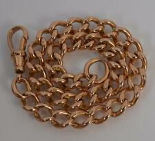 "Heavy 9ct Rose Gold Curb Link Bracelet 8 3/4"" P1712"