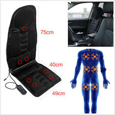 Heated Back Massage Car SUV Seats Back Cushion Massager Neck Pain Lumbar Support