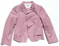 JIL SANDER Mauve Orchid Cotton Silk Peak Lapel Concealed Button Blazer Jacket 36