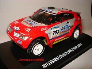 Mitsubishi Pajero Evolution N° 203 Dakar 2004 - Peterhansel - Cottret - 1 /43°