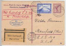(Z11) Zeppelinpost 1. Amerikafahrt LZ 127, 1928