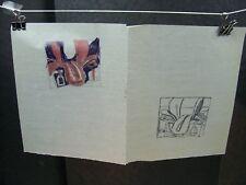 """SADDLE"" Lithograph Sketches Original Ink by C. Schattauer Kelm 42A358"