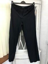 MASSIMO DUTTI STRAIGHT Leg Trousers Size 40 UK12 30 leg NAVY BLUE SLIGHT STRETCH