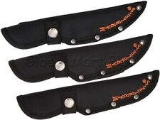Knife Sheath Pouch Case Fixed Straight Blade Snap Belt Loop Nylon Black Marble's