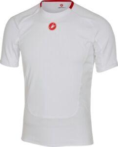 Castelli Men's Prosecco Short Sleeve Cycling Base Large White size Large
