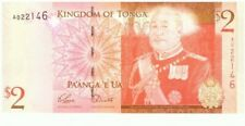 2008 National Reserve Bank Of Tonga 2 Pa'anga 'E Ua Currency Note! WC03