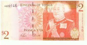 2008 National Reserve Bank Of Tonga $2 Pa'anga 'E Ua Currency Note! WC03