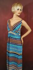 Women's Sleeveless Maxi Dress Size M Great Northwest Indigo Casual Work Clothes