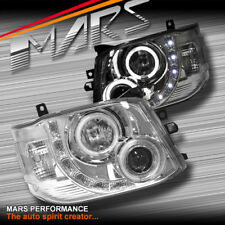 Clear CCFL Angel-Eyes DRL LED Projector Head Lights for TOYOTA HIACE 11-14  VAN
