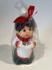 "Vintage Caroler Choir Boy Christmas Candle from Kmart - Brown hair - 5"" tall"