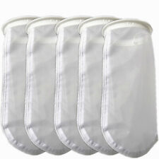 "7"" 400 Micron Filter Socks Nylon 300 Micron Aquarium Mesh Filter Bags Fish Tanks"