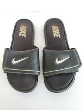 Nike Mens Size US 13 Comfort Slide 2 Black Silver 415205 002 Adjustable Sandals