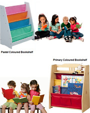 Kids Colourful Sling Wooden Bookshelf Book Storage Bedroom