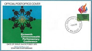 Australian 1970 Commonwealth Parliamentary Conference FDC Stamp D164