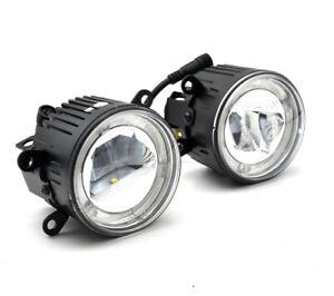 2x Error free LED Fog DRL Light For Porsche Cayenne 955 2005-2006 with Aero kit