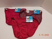 Vanity Fair 3 Pair illumination String Bikini Panty Underwear Sz 5/S 18108 NWT
