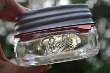 Half Pint Squatting Wide Mouth Mason Canning Jar #4 Antique Vintage Zinc Lid #4