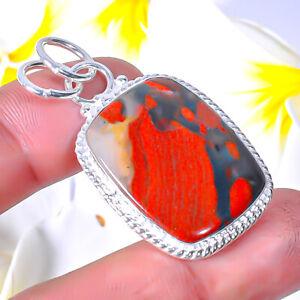 Tabu Jasper Gemstone-925 Sterling Silver Handmade Pendant Jewelry 1.95 E592